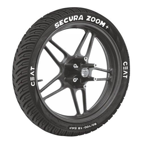 ceat secura zoom plus p80/100 - 18 bias tubeless bike tyre, rear Ceat Secura Zoom Plus P80/100 – 18 Bias Tubeless Bike Tyre, Rear 51rYVellJdL