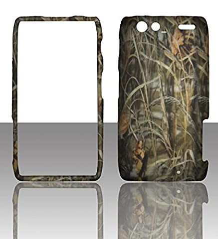 2D Camo Hay Motorola Droid RAZR MAXX , XT913/ XT916 Verizon Case Cover Hard Protector Phone Cover Snap on Case Rubberized Frosted Matte Surface Hard