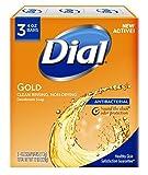 Dial antibacterial desodorante jabón, oro