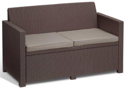 Allibert Lounge Set Polyrattan, Merano, Braun, 4-teiliges Kunststoff Lounge Set -