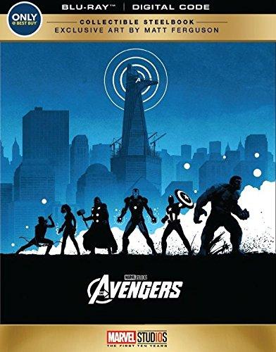 BRAND NEW SEALED STEELBOOK -- The Avengers (BLU-RAY + DIGITAL CODE, 2018)