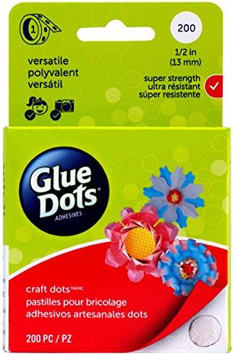 Glue Dots Craft Rolle mit 200Punkte, selbstklebend, 2x 2x 8,4cm