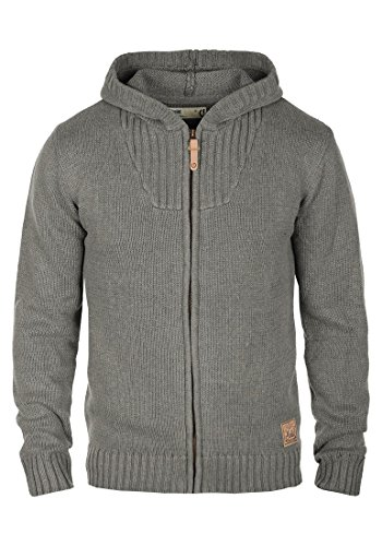 SOLID Penda - Cardigan da Uomo, taglia:L;colore:Grey Melange (8236)