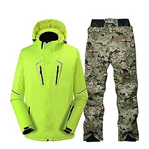 KTUCN Reine Farbe Männer Schneeanzug Winter Outdoor Sportbekleidung Snowboard Bekleidung wasserdicht Winddicht Kostüm Skijacken und Schneehosen