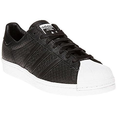 Adidas Superstar 80's Woven Homme Baskets Mode Noir - Schwarz