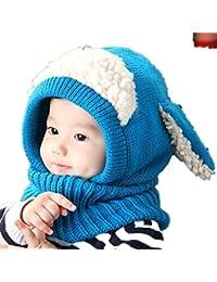 Bebé pañuelos de cuello, RETUROM Moda de invierno nuevo bebé encantadora linda woolen Cofia de la capilla de la bufanda capsula los sombreros