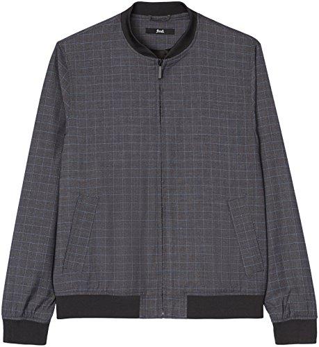 FIND Bomberjacke Herren mit Fensterkaro und Schlitztaschen Grau (Grey Check)