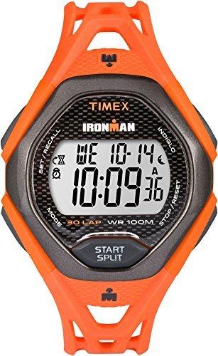 Timex Ironman Sleek Men's Digital LCD Alarm Chronograph Watch – Orange – TW5M10500