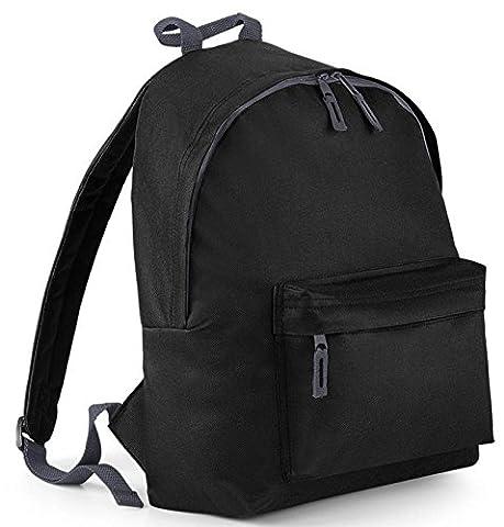Damen Frauen Herren Rucksack schwarz Tasche Schulrucksack Ranzen Schule Uni