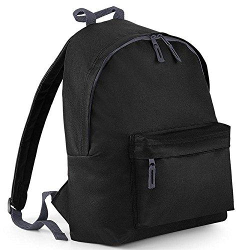 BagBase Damen Frauen Herren Rucksack schwarz Tasche Schulrucksack Ranzen Schule Uni