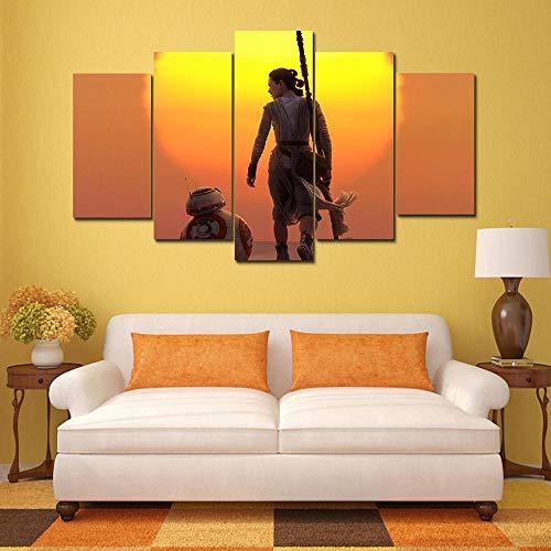 Zum Aufhängen bereit - Modulare Leinwand Bilder Wohnkultur Wohnzimmer Wandkunst 5 Stücke Episoden Gemälde HD Drucke Movie Poster Rahmen - Bild auf Leinwand fünfteilig (Office Episoden)