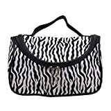Frcolor Zebra Makeup Tasche Mode Tragbare Kulturbeutel Streifen Kosmetik Handtasche für Reisen Outdoor