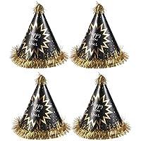 BESTOYARD Felice Anno Nuovo Cono Cappelli Capodanno Decorazione Festa  Cappello doratura Cono Cappello di Carta con 62b33a0481db