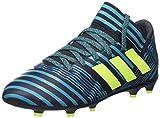 adidas Jungen Nemeziz 17.3 FG J Fußballschuhe, Weiß, Mehrfarbig (Legend Ink/Solar Yellow/Energy Blue), 35 EU