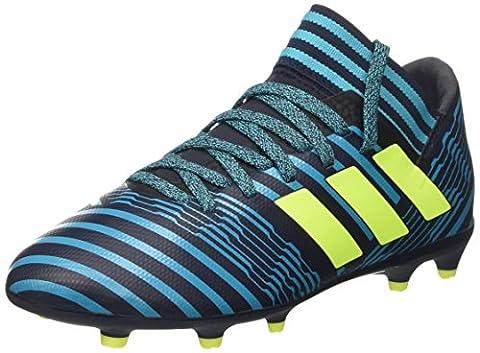 adidas Nemeziz 17.3 Fg J, Chaussures de Football Garçon, Blanc, Multicolore (Legend Ink /solar Yellow/energy Blue ), 38 2/3 EU