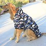 BKPH Haustier Herbst- und Winterkleidung Große Hundetarnung Baumwolle Große Hunde Golden Retriever Labrador Samojede Sibirischer Husky Hundekleidung Sweatshirt, 003, 4XL