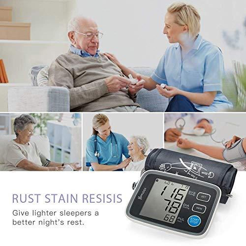 HYLOGY Misuratore Pressione da Braccio Digitale, Sfigmomanometro da Braccio Pressione Arteriosa, Grande Schermo LCD, 2 * 90 Posizioni di Memoria (grigio) (GRIGIO) - 8