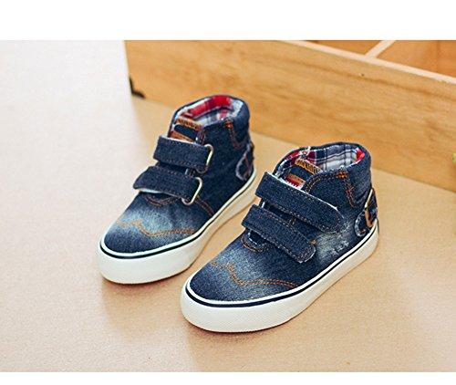 Scothen Kids Schuhe für Unisex Turnschuhe Canvas Kinder Schuhe Denim Laufen Sport Baby Turnschuhe Mädchen Jungen Sneaker Leinenschuhe Segeltuchschuhe High Top Schuhe Laufen Sport Baby Turnschuhe Marine