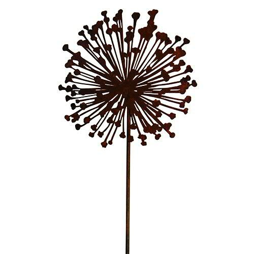 Rost - Gartenstecker Allium - D30cm / H135cm