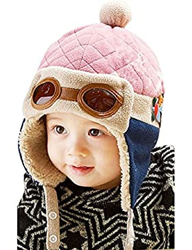 Witery Warme Wintermütze, Kleinkinder, im Design einer Fliegermütze mit Pilotenbrille