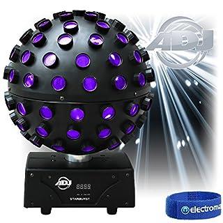 ADJ Starburst 360 Rotating Mirror Ball HEX LED UV Effect Disco Light|American DJ
