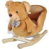 vidaXL Baby Schaukeltier Schaukelpferd Schaukel Tier Teddybear Spielzeug