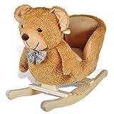 vidaXL Baby Schaukeltier Schaukelpferd Schaukel Tier Teddybear Spielzeug Kinder