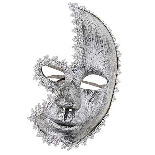Baoblaze Halloween Cosplay Maske Venezianische Maske mit Musikalische Design für Party und Masquerade - Silber