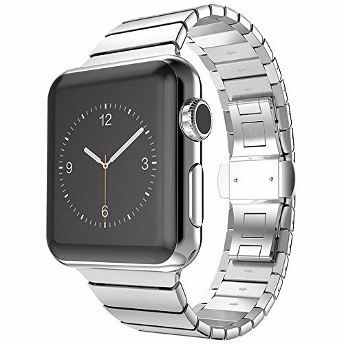 Apple Watch 38 mm Butterfly Edelstahl Stainless Steel Armband für Series 1 / 2 / 3 Basic / Sport / Edition in Silber
