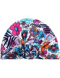 8acea36f9e31 BZLine® Style Indien Nœud Turban Coton Bonnet à Motif Floral Chaud Hiver  pour Bébés 3