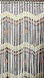 Perlenvorhang Hanoi 100 x 200 cm mit 37 Holzperlen/Bambusröhrchen