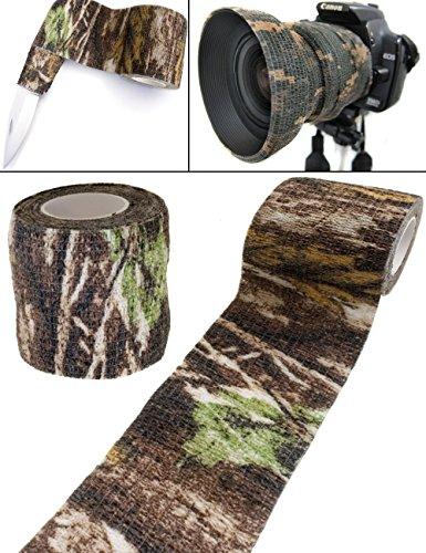 Outdoor Saxx - Camouflage Tarn-Tape Real Forest | Gewebe-Band Wasserfest Mehrfach verwendbar |...