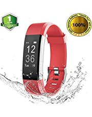 OMNiX ID115 Plus HR Smart Wristband Heart Rate Monitor with