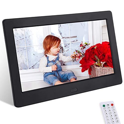 Marcos de Fotos Digital de 7 Pulgadas IPS Full HD CofunKool Marco Digital Reproductor de Audio MP3 MP4/el Interruptor del Temporizador/Reloj/Calendario/Reloj Despertador