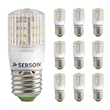 SEBSON 10er Pack E27 LED 3W Lampe - vgl. 25W Glühlampe - 240 Lumen - E27 LED warmweiß - LED Leuchtmittel 160° [Energieklasse A+]