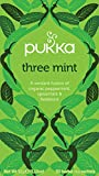 Pukka Three Mint, Organic Herbal Tea with Peppermint, Spearmint & Fieldmint (4 Pack, 80 Tea bags)