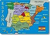 Artimagen Imán Mapa Ciudades España Azul 80x55 mm.