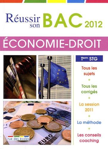 Economie-Droit Tle STG