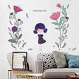 Mddjj Stickers Muraux Autocollants Décoratifs Fleurs Peintes À La Main Fashion TV Drama Fond Décoration...