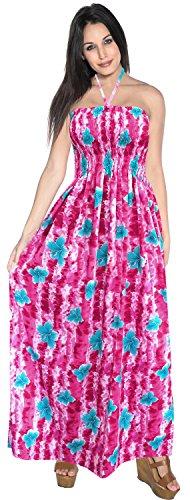 Rohr nach oben Rock halterneck Frauen Wear maxi Badebekleidung Kleid Bandeau midi einteiliges verschleiern Rosa