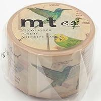 MT Tape, MTEX1P90, washi tape, motivo uccelli, 3 cm x 1 m