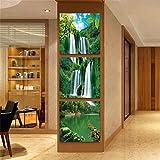 Mr.Zhang's Art Home Painting Triptychon-Moderne Einfache Gang-Korridor-Vertikale Säulen-Treppenhaus-Frameless Wand-Malerei