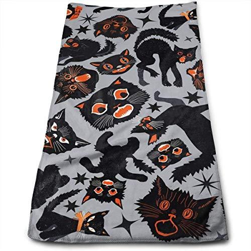 Hipiyoled Halloween Cats Superweiche, maschinenwaschbare und hochsaugfähige Handtücher