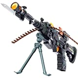 Toyshine Musical Army Style Toy Gun with Music, Multi Color (56cm)