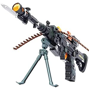 Toyshine Musical Army Style Toy Gun Multi Color (56cm)