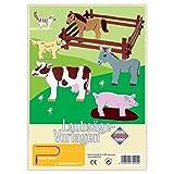 matches21 Bauernhoftiere Holz Laubsägevorlagen DIN A4 Holzvorlagen für Kinder zum Aussägen / Laubsäge Vorlagen