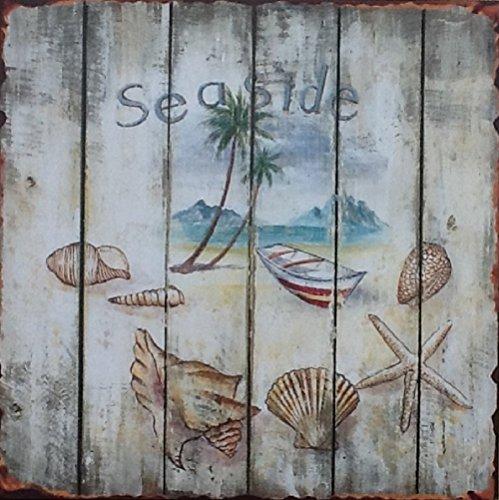nautica-shabby-chic-picture-targa-da-parete-spiaggia-barca-sul-mare-conchiglie-4-stili-seaside