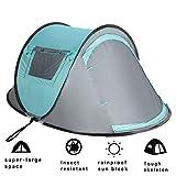VITCHELO Tente Camping Dôme Pliable 2 personnes , Pop up Tente Instantanée Ouverture Rapide, Tente Randonnée automatique Anti-UV Facile à Transporter
