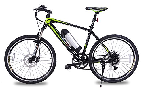GreenEdge Unisex's CS2 Electric Bike, Black, 19-Inch