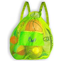 NETZ SPORTTASCHE - Große Netztasche - Netzbeutel Rucksack Ideal für Ball, Fußball, Basketball, Schwimmen, Schwimmbad, Strand & Sandspielzeug – Langlebig einkaufsnetz für bis zu 25 kg Gewicht